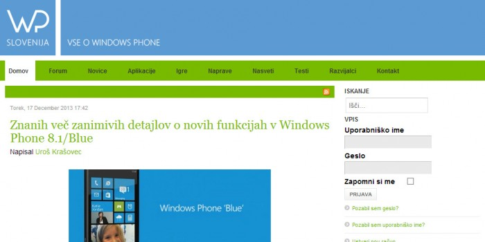WP Slovenija Screenshot